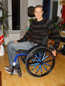 Neue Rollstuhlräder der Firma GOLZ