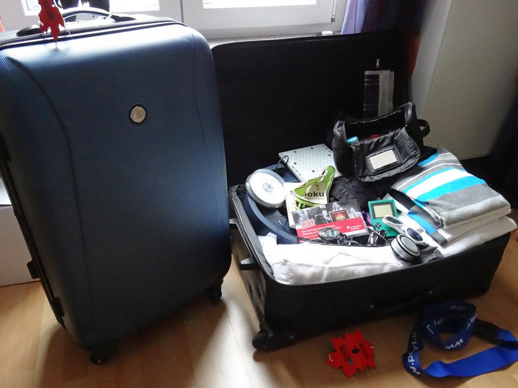 Mein Reisegepäck - 2x 23kg schöpfe ich voll aus.